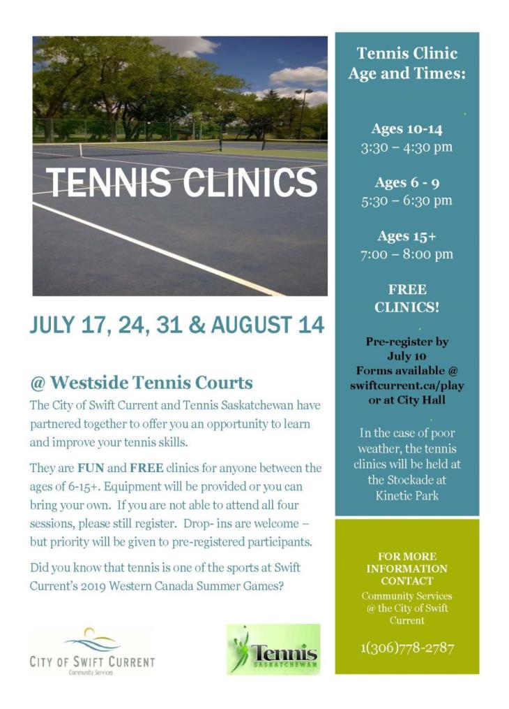 tennis clinic poster 2018
