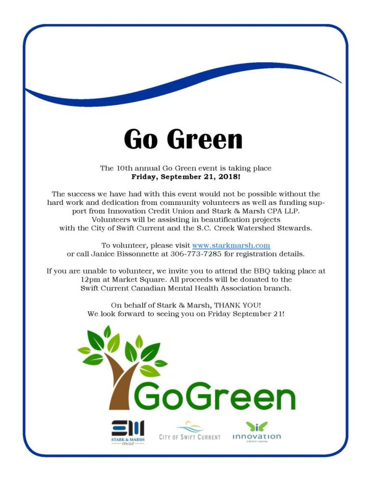 Go Green Information Poster