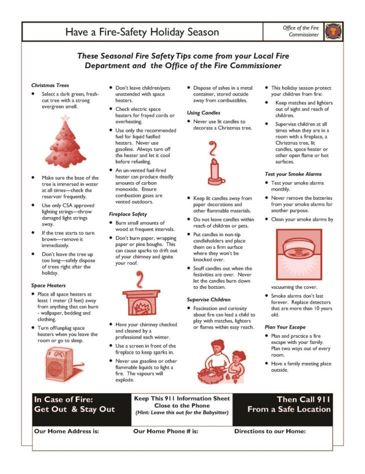 Fire-Safe Holiday Season 2015