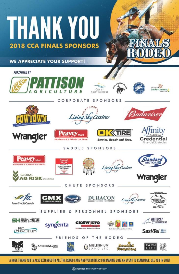 2018 Finals Sponsors Thank You